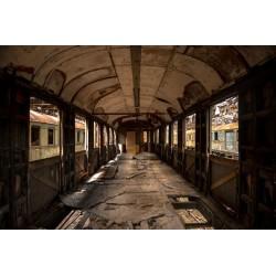 Fotomural carruaje abandonada
