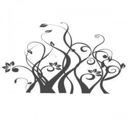 Vinilo de arbusto con flor