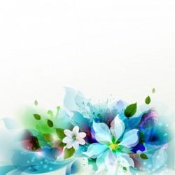 Vinilo para muebles flores 3d