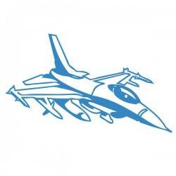 Vinilo decorativo avión Caza F-16