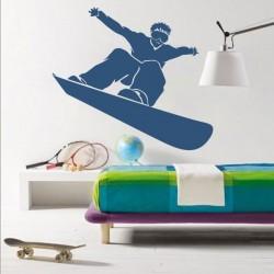 Vinilo decorativo de snowboard
