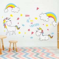 Adhesivo decorativo unicornios 2