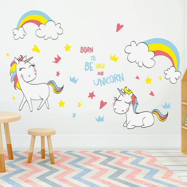 Unicornios 2 vinilos decorativos para transformar tu casa for Cuarto de unicornio
