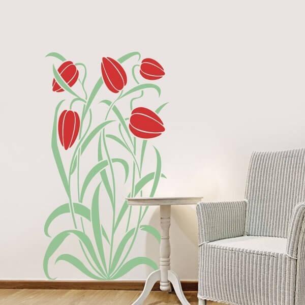 Vinilo adhesivo flores tulipán