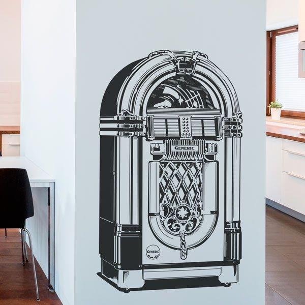 Vinilo decorativo jukebox retro