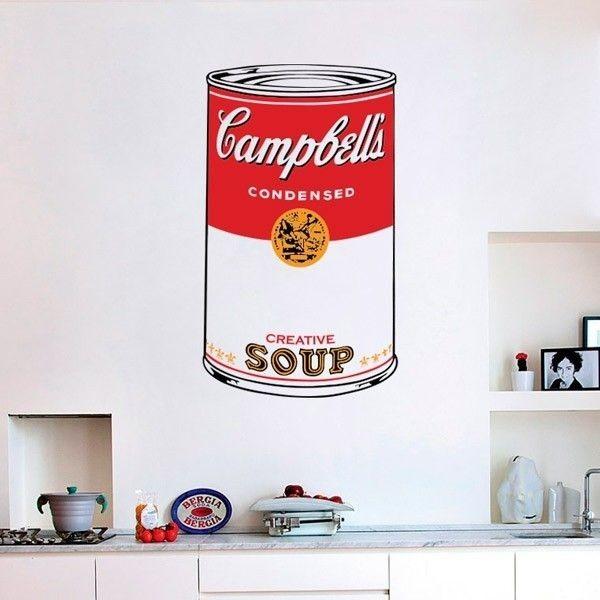 Adhesivo pop art Campbell s Soup