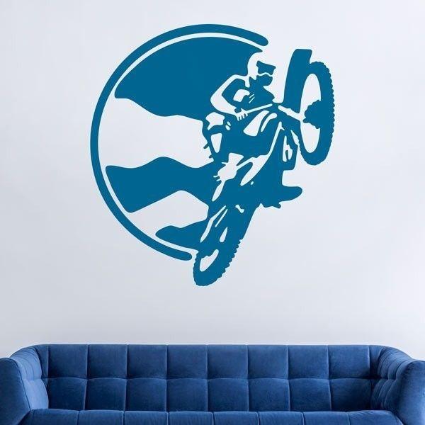 Vinilo acrobacias con la moto