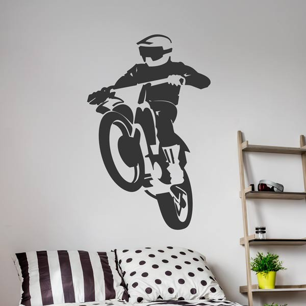 Adhesivo de pared motocross