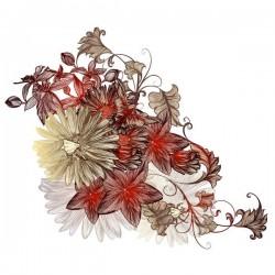 Vinilo flores vintage 1