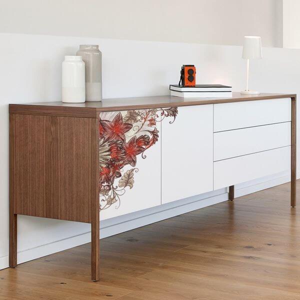 Flores vintage para mueble vinilos decorativos y - Vinilos decorativos para muebles ...
