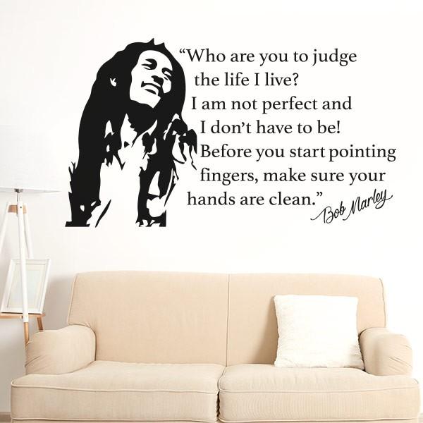 Vinilo frases Bob Marley