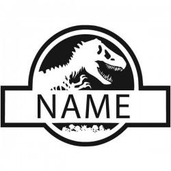 Vinilo de texto dinosaurio