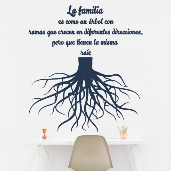 Vinilo árbol la familia