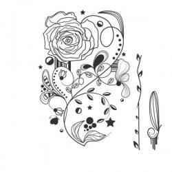 Vinilo adhesivo vaso de flores