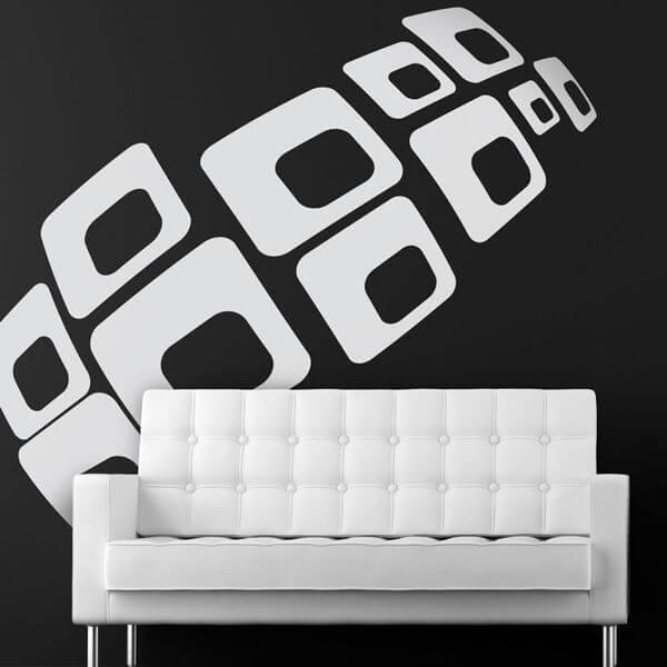 Adhesivo decorativo cuadrados 3