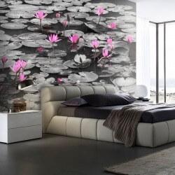 Mural flor de loto