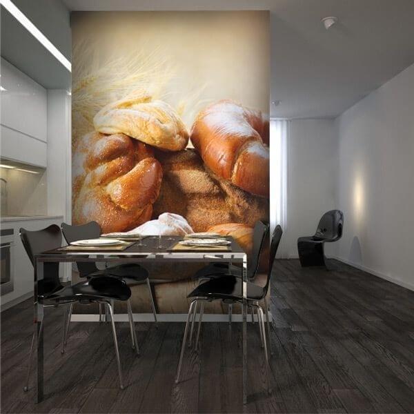 Fotomural trigo y croissants