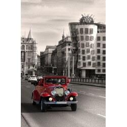 Fotomural de coche rojo