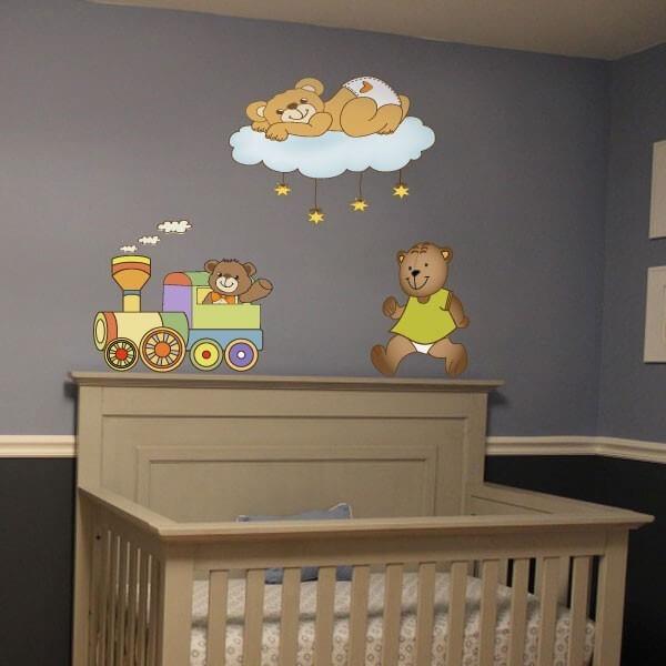 Vinilo bebé tres osos