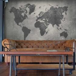 Mural textura mapamundi