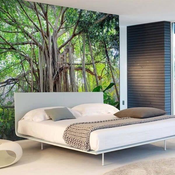 Mural decorativo de gran árbol