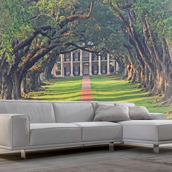Mural bajo árboles 2