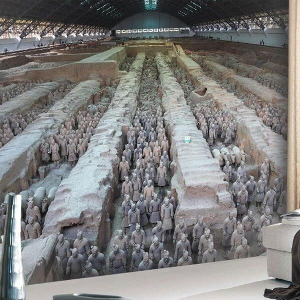 Mural guerreros de Terracota