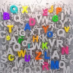 Fotomural de letras en 3D