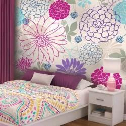 Mural flores de colores 4