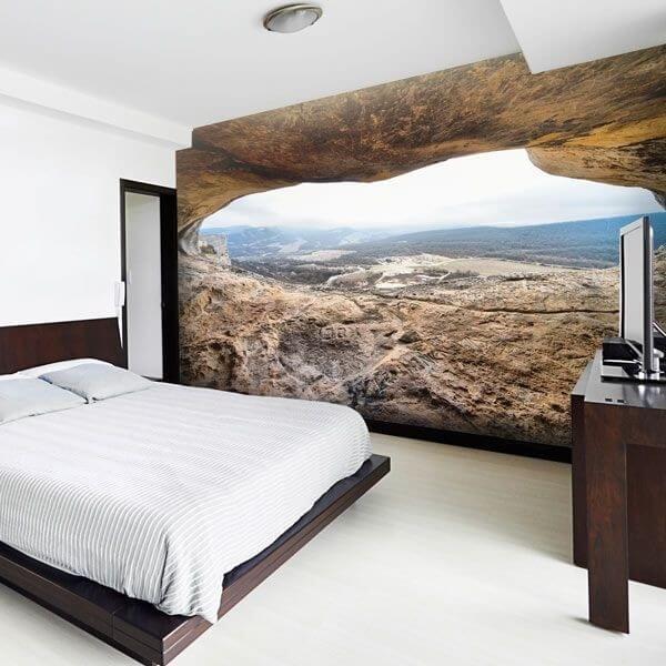 Fotomural de cueva con vistas