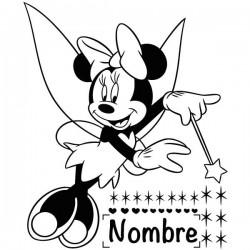 Vinilo Minnie con estrellas
