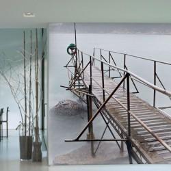 Fotomural Puente con Niebla