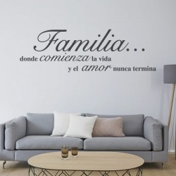 Vinilo Decorativo Frase Amor De Familia