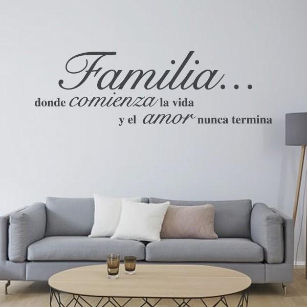 Vinilo Frase Amor De Familia