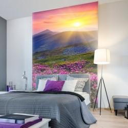 Mural de pared puesta de sol