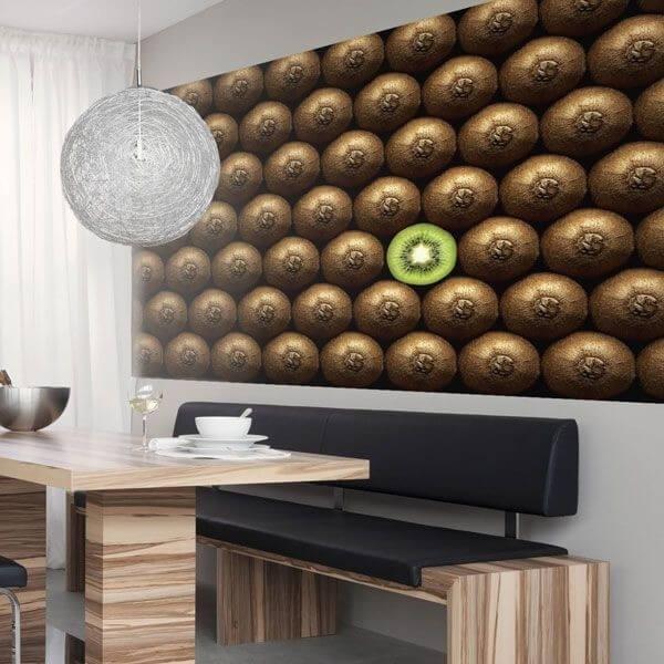 Mural decorativo kiwi