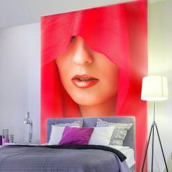 Fotomural mujer de rojo