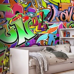 Mural decorativo graffitis