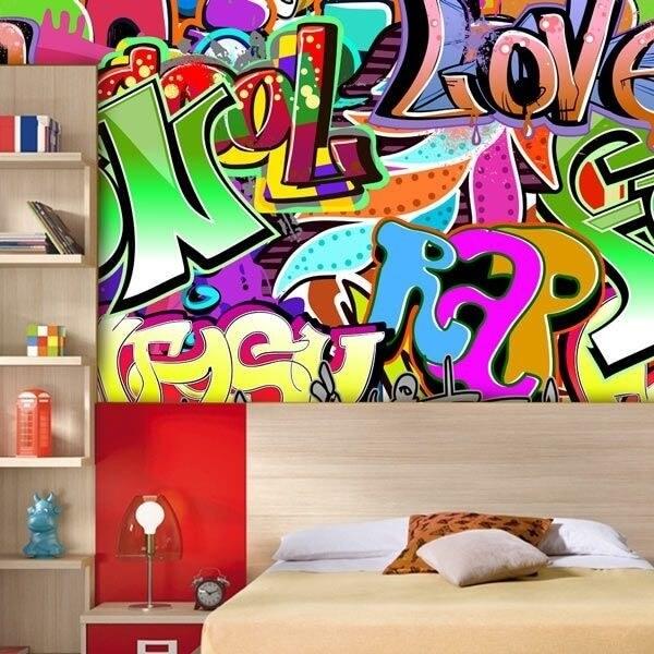 Mural decorativo graffitis