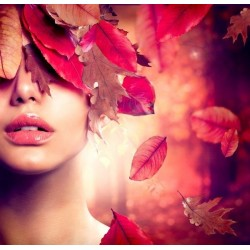 Fotomural rostro de otoño