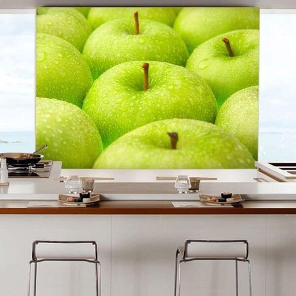 Mural decorativo manzanas