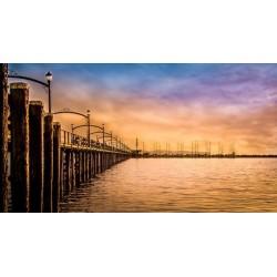 Fotomural puente de madera 2