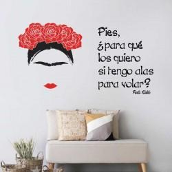 Vinilo con frase de Frida...