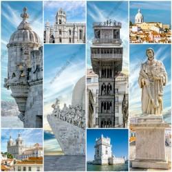 Mural Monumentos ciudad de Lisboa