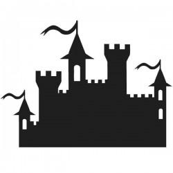 Pizarra castillo infantil
