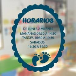 Vinilo horario infantil