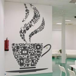 Vinilo taza de café con...