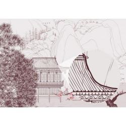 Mural ilustración Japón