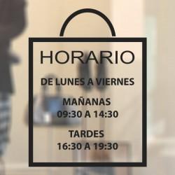 Vinilo horario para tiendas