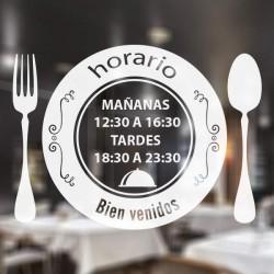 Vinilo horario bar restaurante